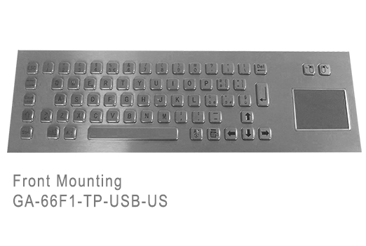GA-Industrial-Competitive Range-60+Keys Trackpad Front Mounting