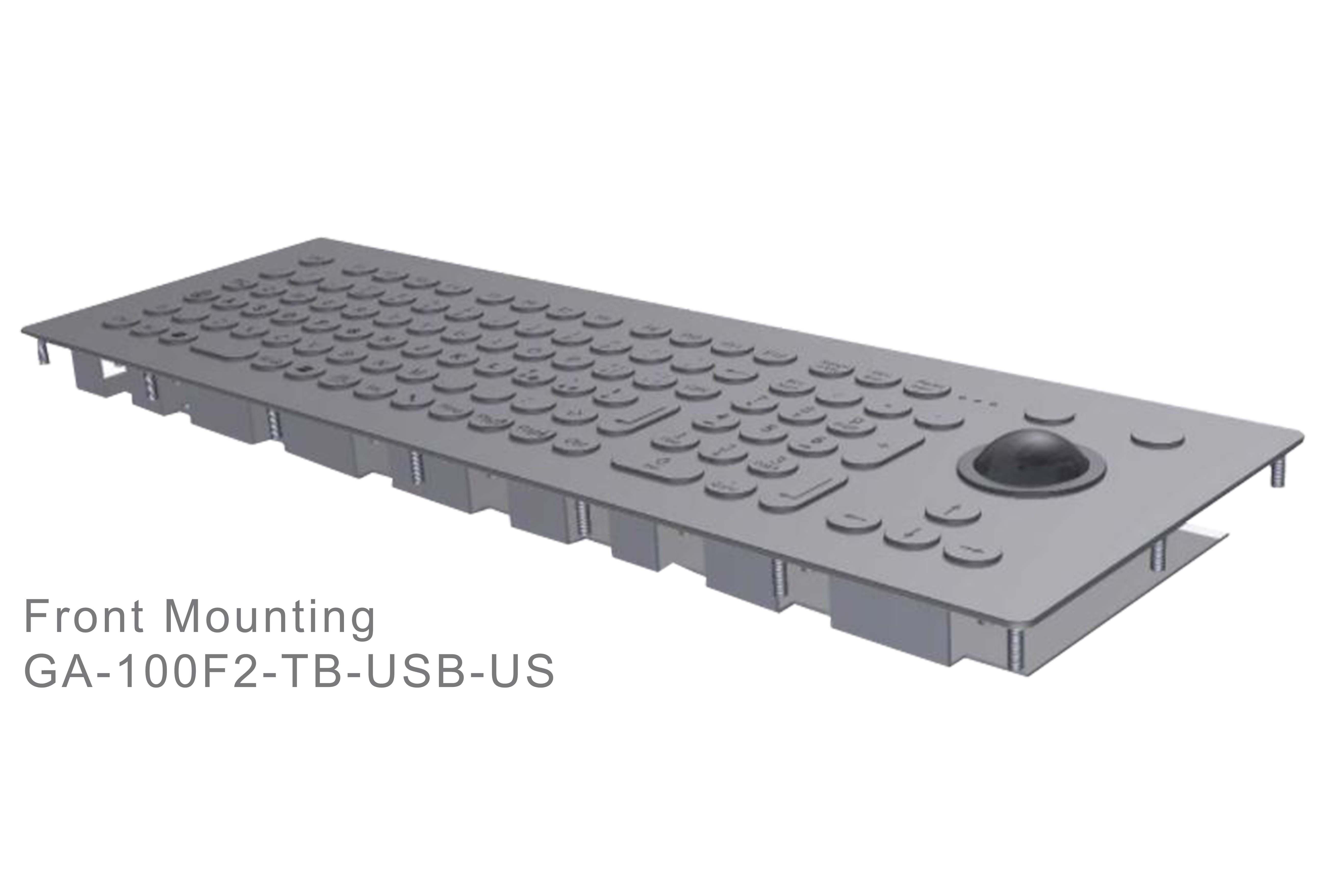 GA-Industrial-Italian Brand-100+Keys Trackball Front Mounting-L