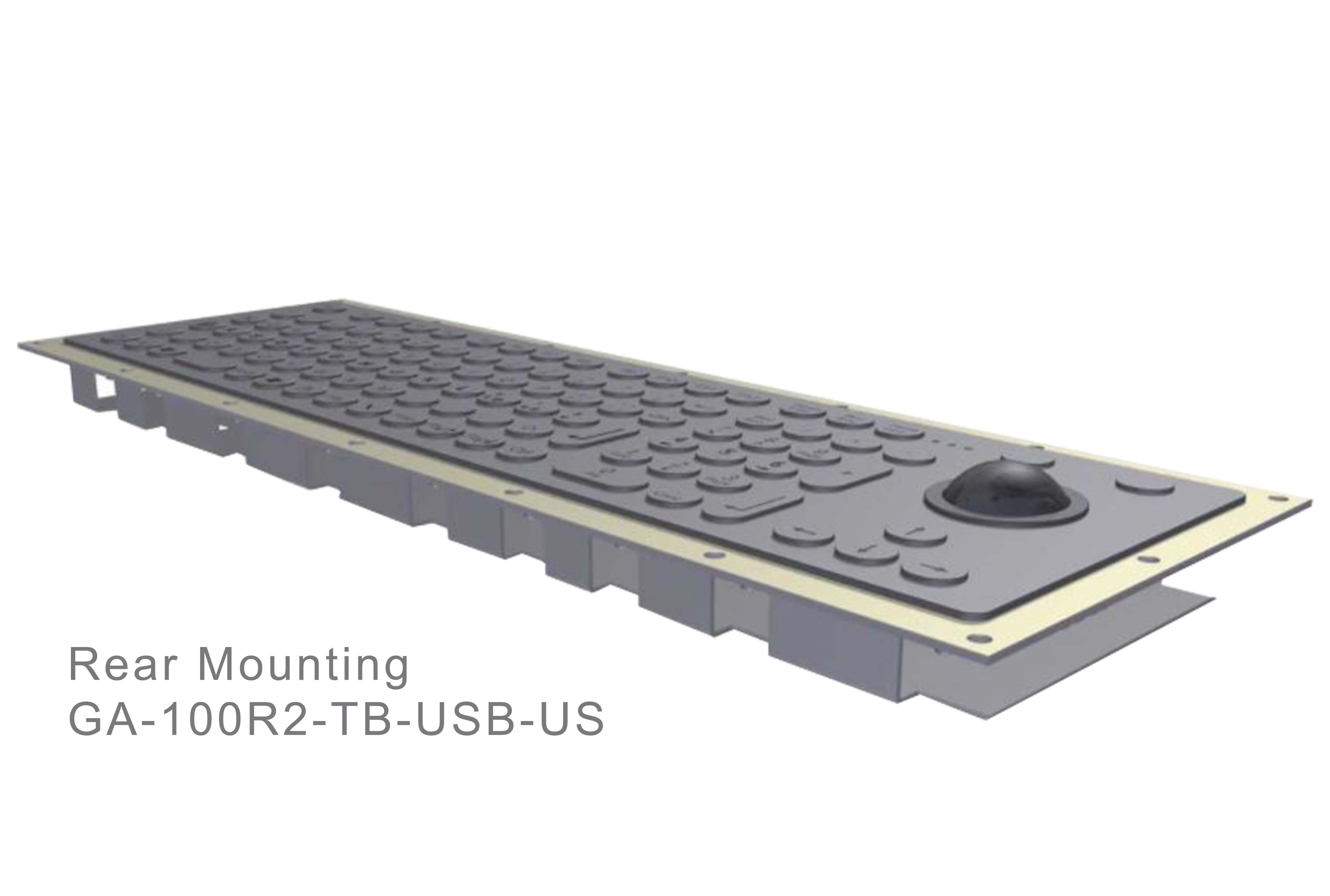 GA-Industrial-Italian Brand-100+Keys Trackball Rear Mounting-L