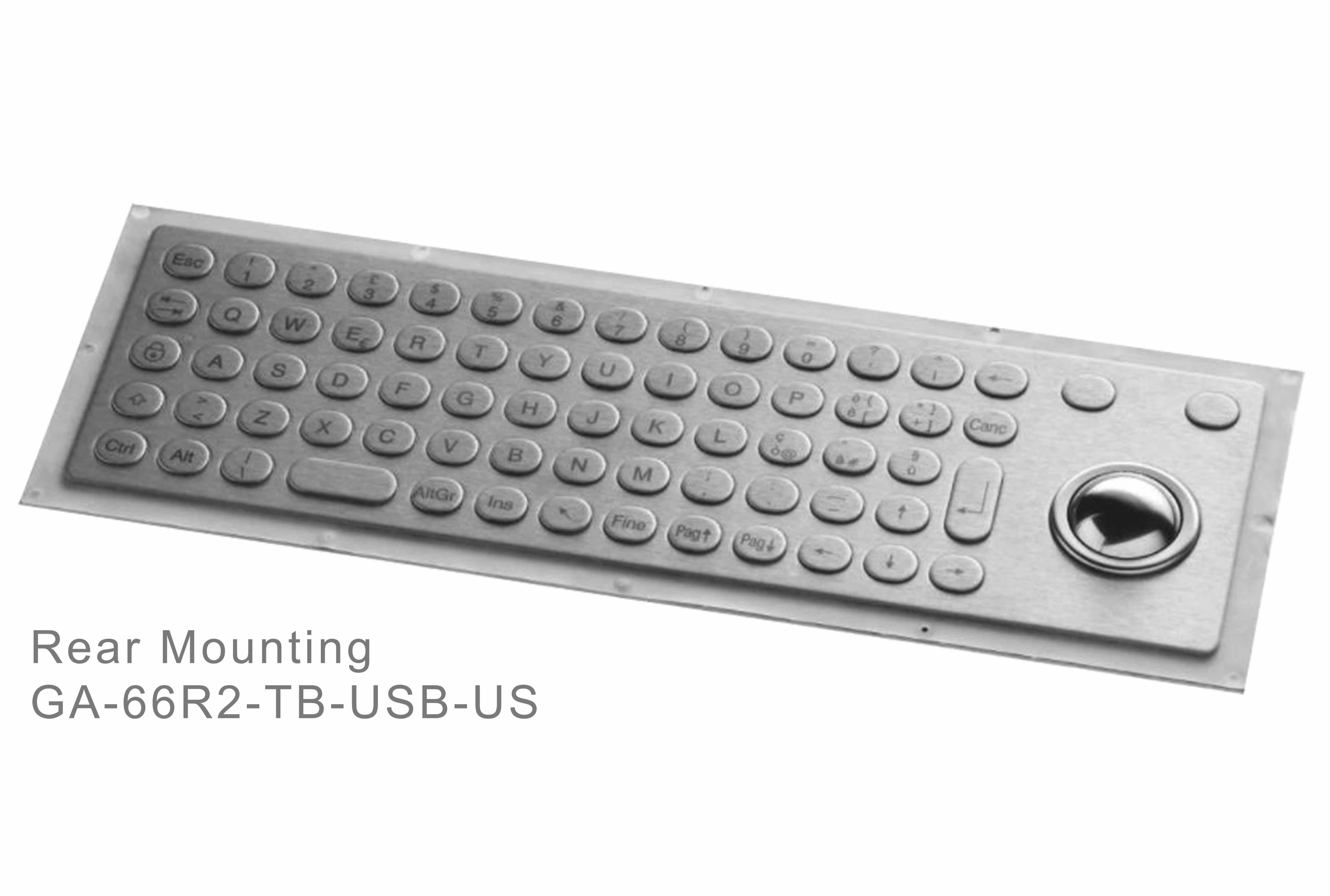 GA-Industrial-Italian Brand-60+Keys Trackball Rear Mounting-L