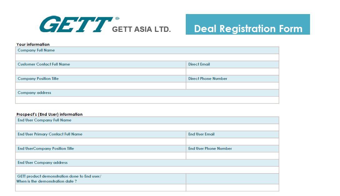 Deal Registeration Form